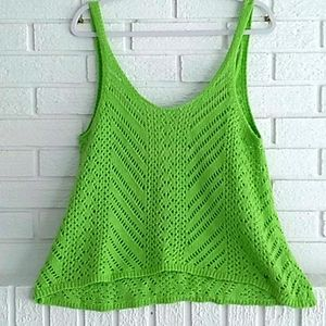 Abercrombie & Fitch bright green knit tank top